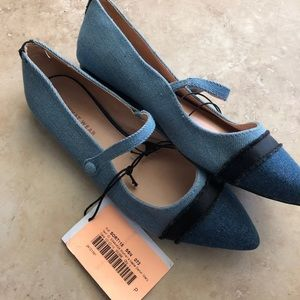 Who what wear blue flats